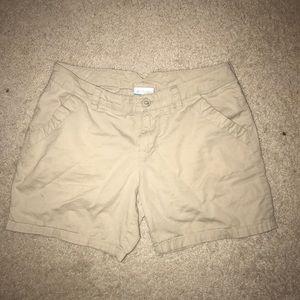 Boys Columbia Khaki Shorts size Large